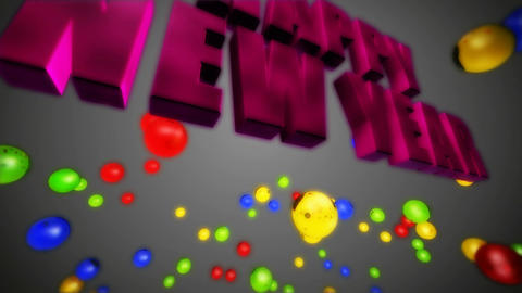 happy new year colorful Animation