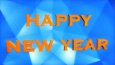 happy new year blue Animation