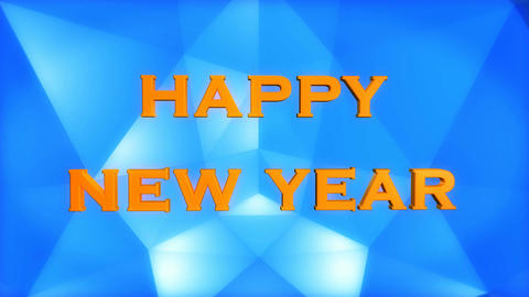 happy new year blue Stock Video Footage