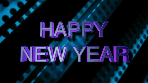 happy new yea dotted Stock Video Footage