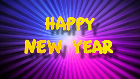 happy new year fun Stock Video Footage