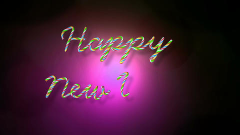 happy new year lights Stock Video Footage