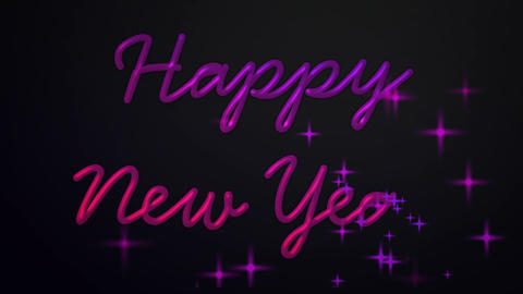 happy new year sparkling Stock Video Footage