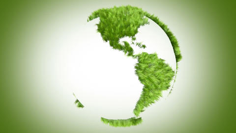 Green World Made Of Grass stock footage