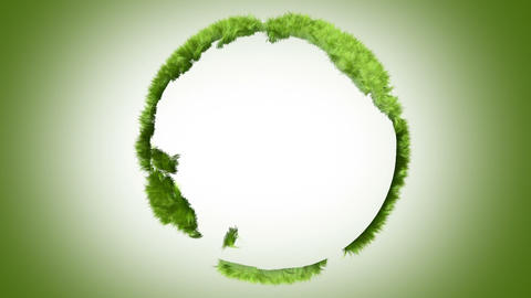 Green world made of grass Stock Video Footage
