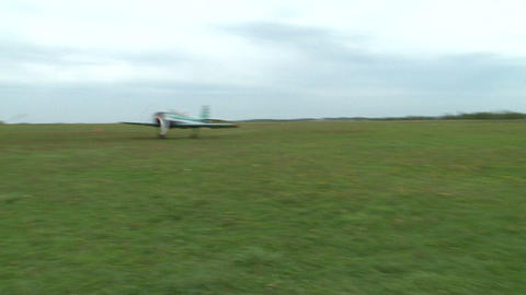 The AN-2 aircraft on the airfield Footage