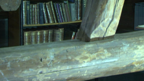 Ancient library of the Stock Video Footage
