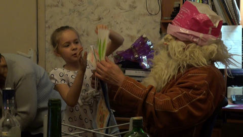 Santa claus in the family Stock Video Footage