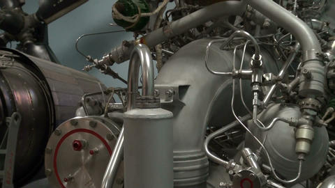 Space Shuttle Engine Parts Footage
