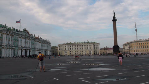 The palace square in st. Petersburg Stock Video Footage