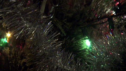 Christmas tree garland, toy Stock Video Footage