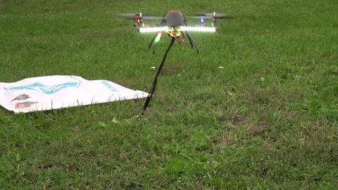Toy helicopter on the remote control Footage