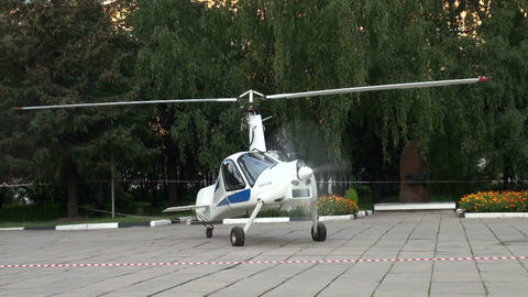 The helicopter at the site Stock Video Footage