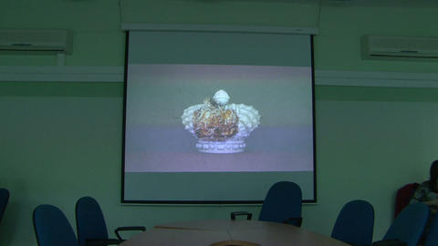 The screen in the auditorium Stock Video Footage