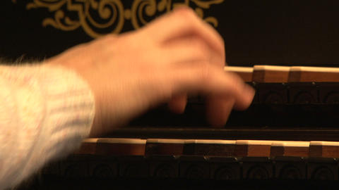 Harpsichord, keyboards, hand Stock Video Footage