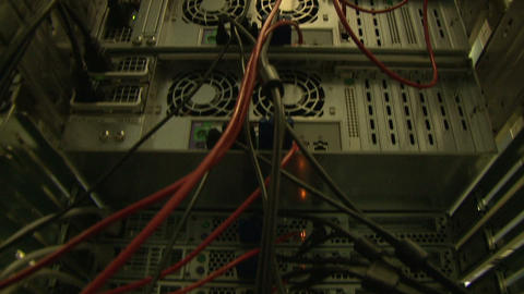 A system block of the computer, server Footage