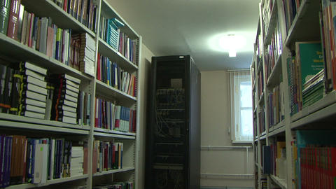 Server in the library Stock Video Footage