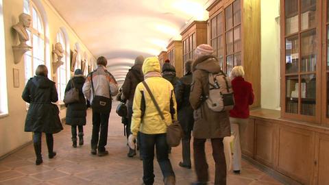 The corridor of the institute Footage