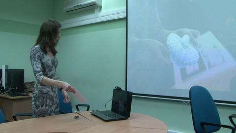 The Three-dimensional Projection From The Computer To The Screen stock footage