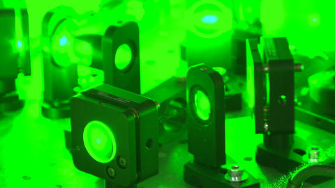 Green laser beam Footage