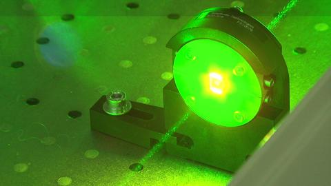 Green laser beam Footage