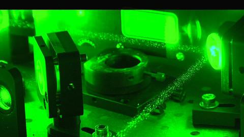 Green laser beam Stock Video Footage