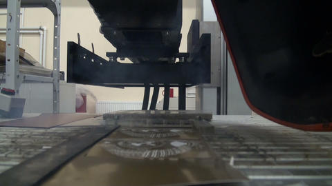 Laser cutting Stock Video Footage