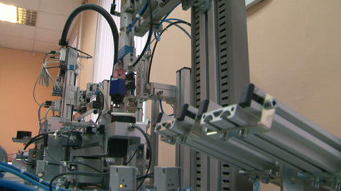 Model of the automated factory Stock Video Footage