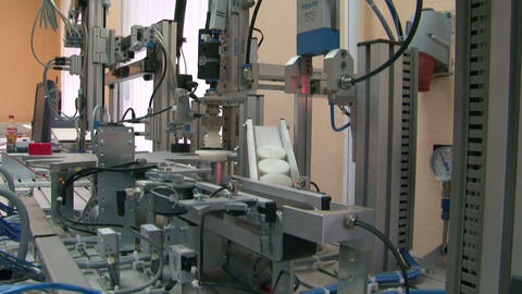 Model Of The Automated Factory stock footage