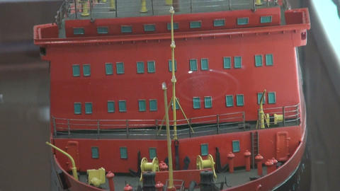 Model of the ship Stock Video Footage