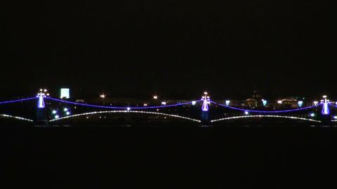 Lighting bridge Stock Video Footage