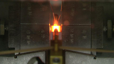 Heating of a metal rod Stock Video Footage