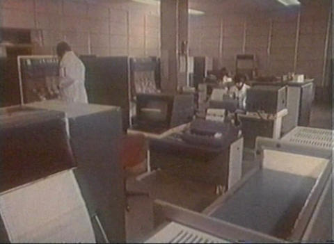 The old computer center Stock Video Footage
