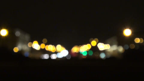 The lights in the defocusing Stock Video Footage