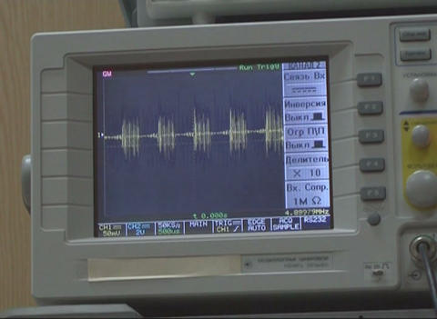 Oscilloscope, spectrogram Stock Video Footage