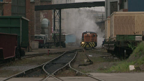 The train on the railway Stock Video Footage