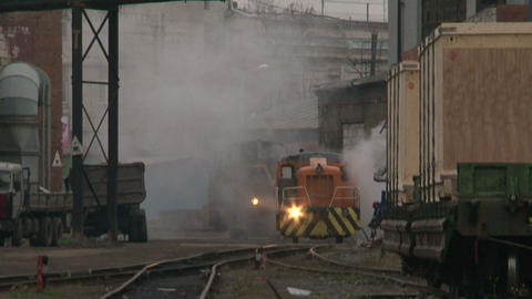 The train on the railway Footage