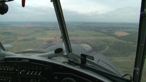 A Pilot In The Cockpit Of The Helicopter stock footage