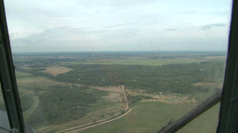 A pilot in the cockpit of the helicopter Stock Video Footage