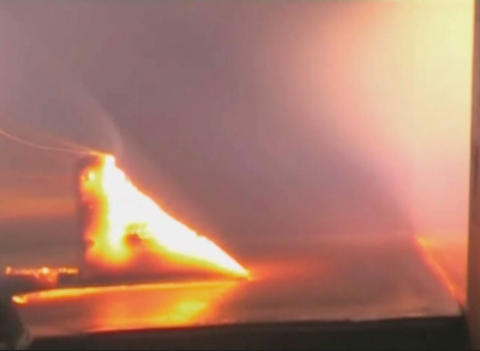 Hot metal in the fiery jet Stock Video Footage