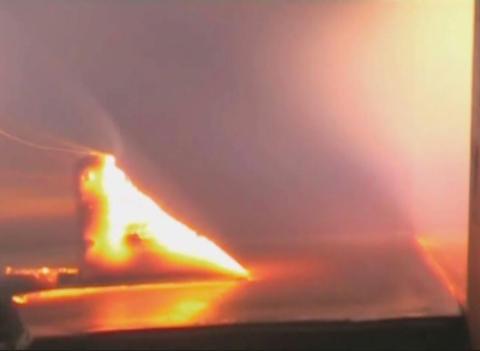 Hot metal in the fiery jet Stock Video Footage