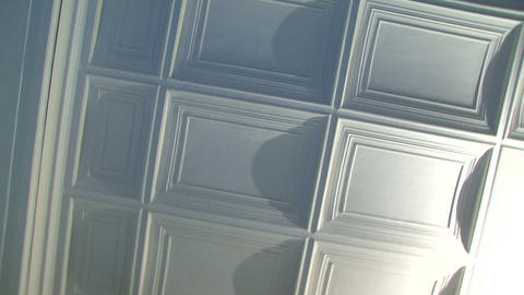 The ceiling of the rectangles Stock Video Footage