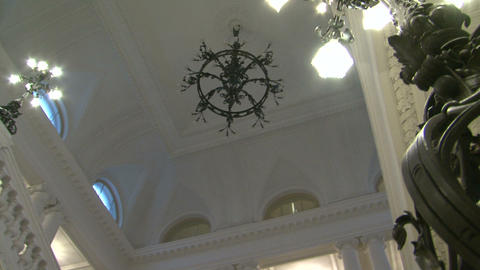 The white ceiling of the chandelier Footage