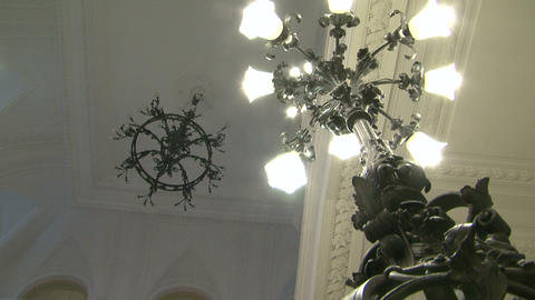 The white ceiling of the chandelier Stock Video Footage