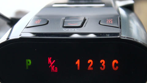 The Car Radar detector Stock Video Footage