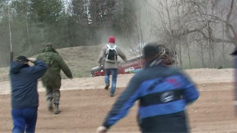 The rally, accident Footage