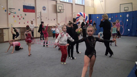 Artistic gymnastics, gym Stock Video Footage