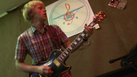 Guitarist of rock group Stock Video Footage