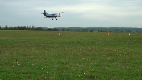 The AN-2 aircraft on the airfield Stock Video Footage