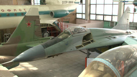 The organization and mechanisms of a combat aircraft Stock Video Footage